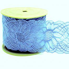 Dentelle élastique bleu lavande