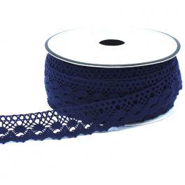 Ruban dentelle bleu marine