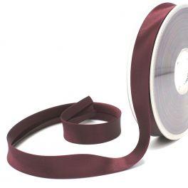 Satin bias binding 20mm - plum