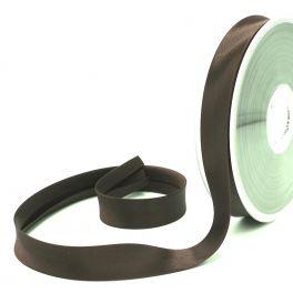 Satijn biaisband 20mm - donkerbruin