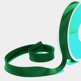 Satin bias binding 20mm - green