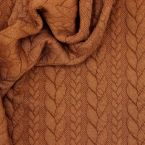 Jersey fabric with twisted pattern - brick red