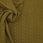 Jersey fabric with twisted pattern - camel