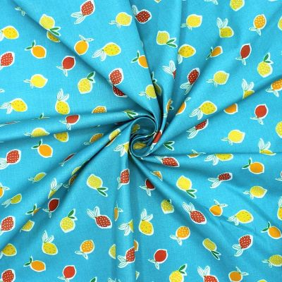 Cotton printed with fruits
