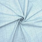 Cotton with blue prints and white background