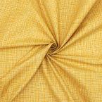 Tissu en coton imprimé moutarde