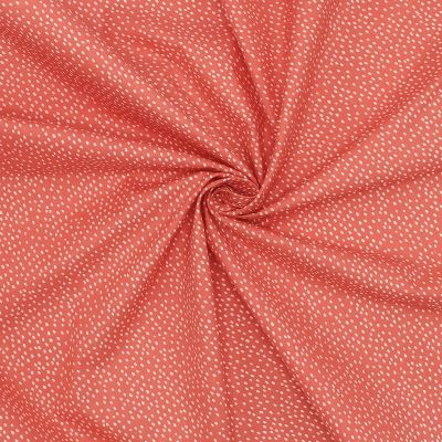 Cotton printed with dots - coral