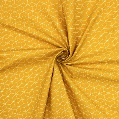 Printed cotton - mustard yellow