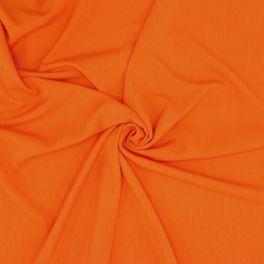 Stretch stof met keperbinding - oranje