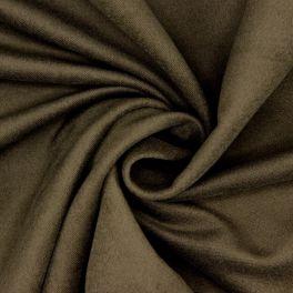 Tissu en coton gratté kaki