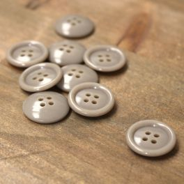 Vintage resin button - taupe