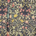 Cotton with floral pattern - grey background