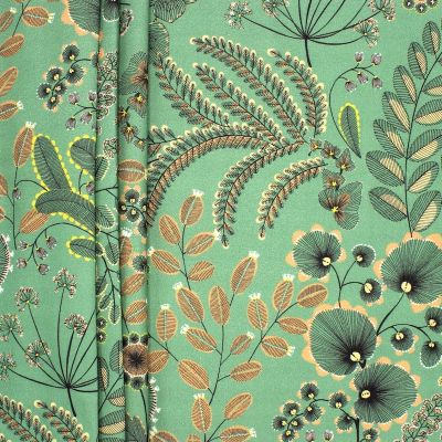 Designer  Upholstery  FAUX SUEDE Fabric Floral Print  Widht  140cm