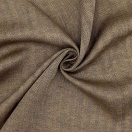 100% linen fabric with herrigbone pattern - beige