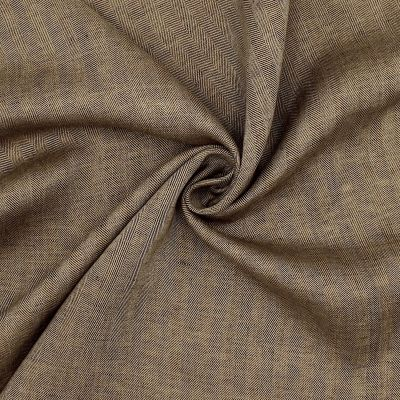 100% linen fabric with herrigbone pattern - beige