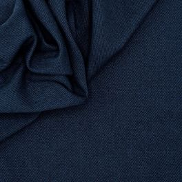 Apparel fabric in wool - navy blue