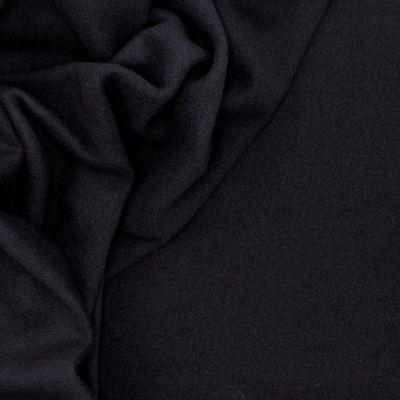Kledingstof in wol - zwart