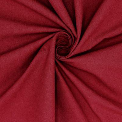 Cretonne - plain garnet red