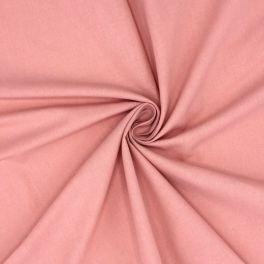 Tissu cretonne uni rose thé