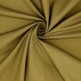 Tissu cretonne uni vert bronze