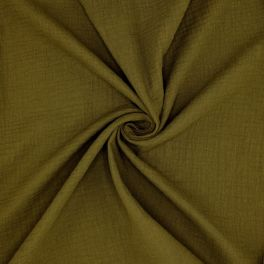 Dubble cotton gauze - bronze green