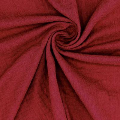 Dubble cotton gauze - garnet red