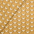 Coated cotton with ducks - caramel