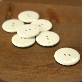 Round button 27mm - off white