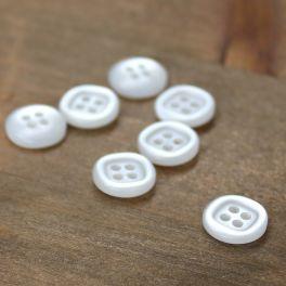 Bouton rond blanc de 11mm