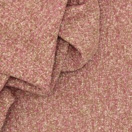 Marbled wool fabric - pink
