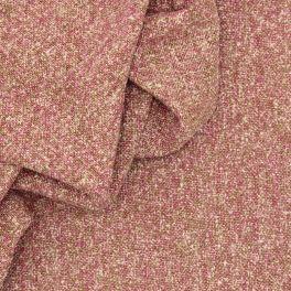 Pink wool, acryl and polyamide fabric