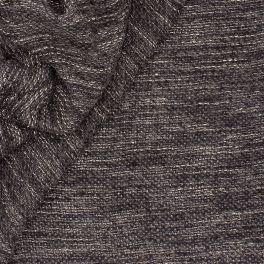 Tissu en laine à bouclettes gris