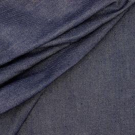 Tissu jeans uni bleu