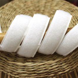 Velcro velours adhésif blanc