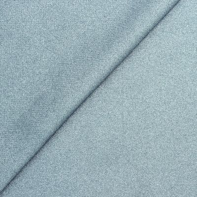 Coated cotton - plain metallic sky blue