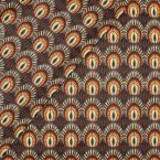 Coated cotton with caramel print and grey background