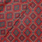Coated cotton with prints - red