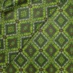 Coated cotton with prints - green