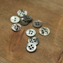 Vintage resin button - green-grey