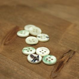 Vintage resin button - pearly beige