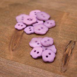 Flower resin button  - parma purple