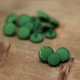 Vintage resin button - green