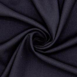 Fabric in wool and polyester - midnight blue