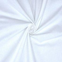 Tissu 100% coton blanc