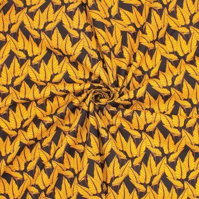 Tissu en coton imprimé végétale