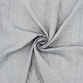 Tissu polyester gris aspect froissé