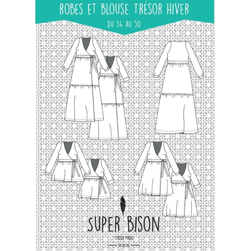 Pattern dress and blouse Trésor 34-50