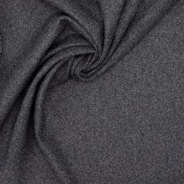 Tissu en laine gris chiné
