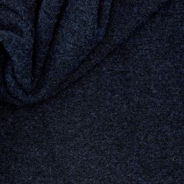 Jersey with wool aspect - mottled navy blue