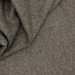 100% wol met visgraatdessin